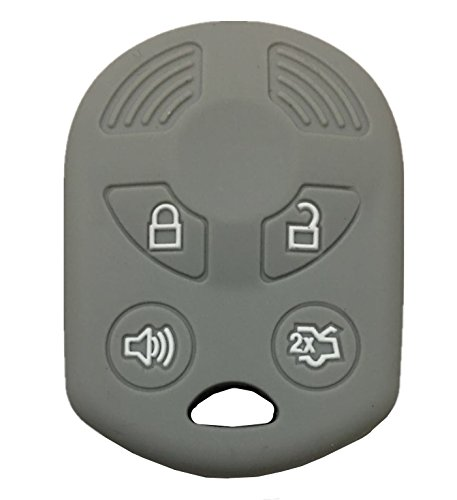 - Rpkey Silicone Keyless Entry Remote Control Key Fob Cover Case protector For Ford Lincoln Mercury OUCD6000022 164-R8046 164-R7040 CWTWB1U722 (Gray)