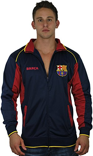 Fc Barcelona Jacket Track Soccer Adult Sizes Soccer Football Official Merchandise Large New Navy Maroon ()