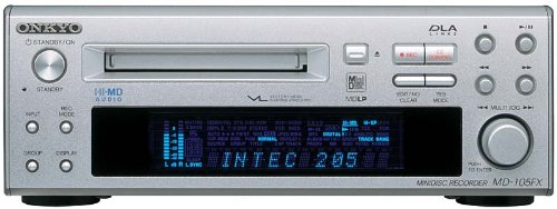 ONKYO INTEC205 Hi-MD MINIDISC Deck Silver MD-105FX (S) HiMD MDLP SP Long Play MADE IN JAPAN + BONUS!