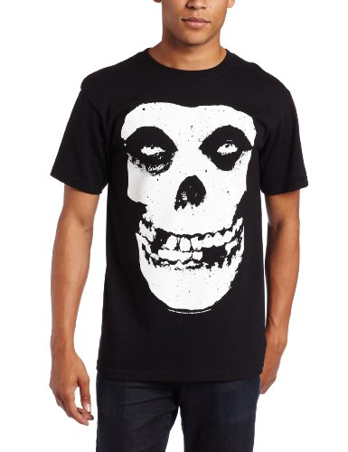 Impact Men's Misfits Skull and Logo Short Sleeve T-Shirt, Black, X-Large
