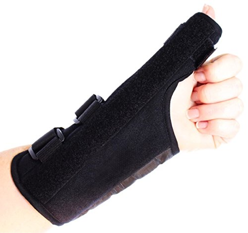 Comfort Care Thumb Support Brace - Left Hand - Fitness - Rheumatoid Arthritis - Training - Health - Beauty - Men - Women - Hands - Treatment - Exercise - Joint - Wellness - Muscle - Hurt - Severe - Aching - Swollen - Painful - Personal - Sore - Remed