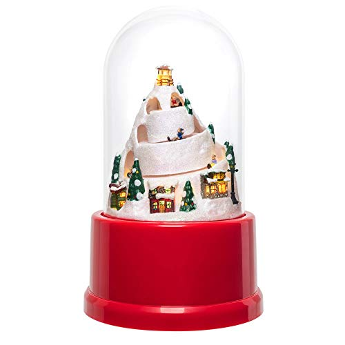 Mr. Christmas 22977 Animated Musical Cloche Holiday Decorations One Size Red and White