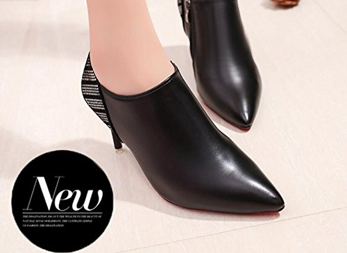 KHSKX-Tip Of The Week For Women Shoes And Boots Which Were Lattice Short Barrel Martin Boots Side Zipper Single Shoes And Bare Boots 34 hJtDJhLLEy