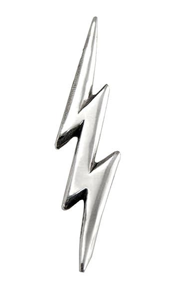 sterling silver thunderbolt lightning bolt pendant