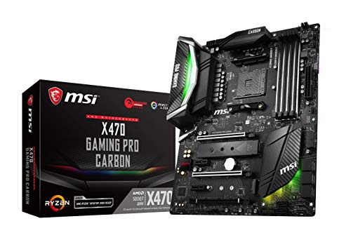 (MSI Performance Gaming AMD X470 Ryzen 2 AM4 DDR4 Onboard Graphics SLI ATX Motherboard (X470 Gaming PRO Carbon))