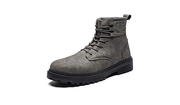 YAN Botines De Los Hombres 2018 Herramientas Botas De Alta Top Casual Zapatos Martin Botas Senderismo Zapatos Trail Running Zapato Negro Gris Marrón,Gray ...