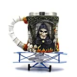 FZZ698 3D Coffee MugViking Skull Death Double Wall Christmas Cup Gift for Woman for Man Halloween Need (multi)