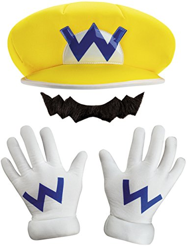 Wario Costume Adults (Super Mario Bros Nintendo Wario Instant Costume Kit)
