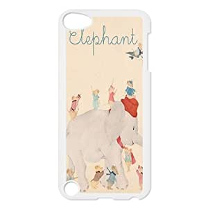 Cute elephant High Quality Phone Case for iPod Touch 5, Top Quality Cute elephant Cover Case
