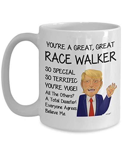 (Race Walker Coffee Mug Funny Gifts For Birthday Christmas Gag Tea Cup By Whizk MTR579)