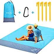 VASLON Beach Blanket 79 * 55inch, Sand Proof and Water Resistant, Pocket Picnic Blanket for Outdoor Travel Cam