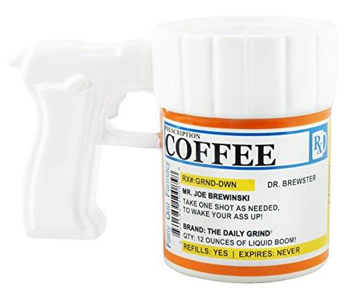 Prescription Gun Coffee Mug - Wholebulk Dealer Distributor Case Lot Of 24 by Travel Mugs