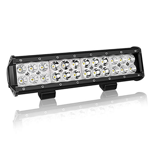 """12"""" inch 72W Led Work Light Bar Spot Flood Combo Off road Lamp Lights Driving Lighting for Jeep off road Van Camper Wagon ATV AWD SUV 4WD 4x4 Pickup Van with Mounting Bracket"""