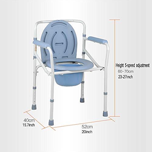 Chaise pour Personne Âgée XSJZ Toilette Mobile Tabouret de Toilette Pliable Antidérapant Renforcé Siège de Toilette Siège de Toilette Mobile pour Femme Enceinte