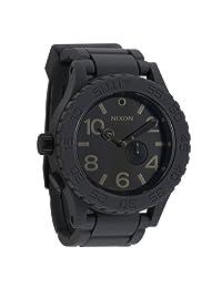 NIXON Men's A236-195 Rubber Analog Black Dial Watch