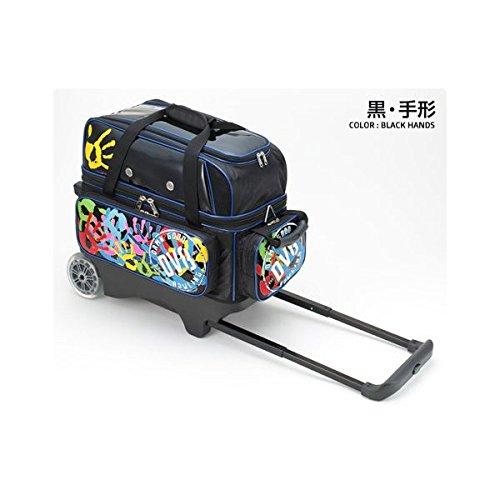 (DV8) ダブルローラーバッグ 全4色 【ボウリング用品】 B00QOFHTD6 黒手形