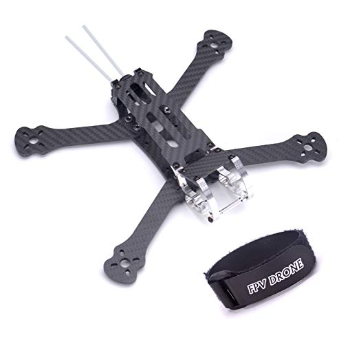 Cheap FPVDrone 230mm FPV Racing Drone Frame 5 Inch Carbon Fiber Quadcopter Frame Kit 4mm Arms and LiPo Battery Strap