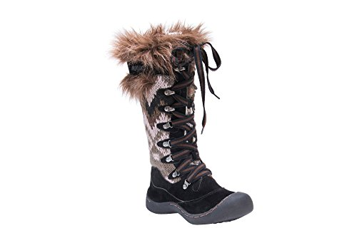 s Faux Suede Water Resistant Winter Snow Boots Brown Size 11 ()