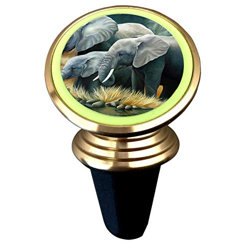 Janeither Cute Elephant Family Illustration Magnetic Phone Holder Mount for Car - Universal 360 Rotation Car Phone Mount Luminous Metal Magnetic Holder Stand for iPhone Samsung