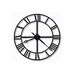Lacy Wrought Iron Wall Clock Dark Charcoal Gray Dimensions: 2.25D X 32 Diameter Weight: 12 Lbs