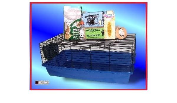 Starter Kit de Jaula para Conejos interior 100 cm XL Hutch: Amazon ...