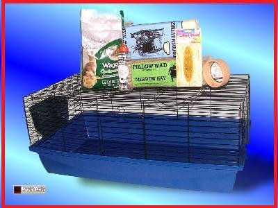 Starter Kit de Jaula para Conejos interior 100 cm XL Hutch: Amazon ...
