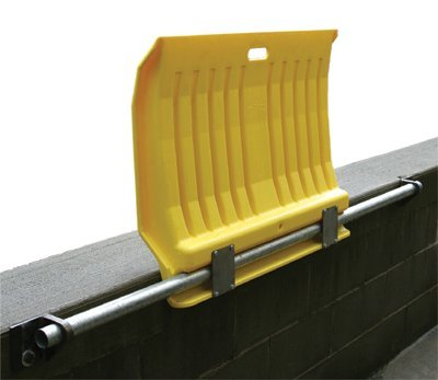 Eagle 1796 Fixed Poly Dockplate, 26'' Length x 35'' Width x 5'' Height, Yellow, For Hand Trucks by Eagle
