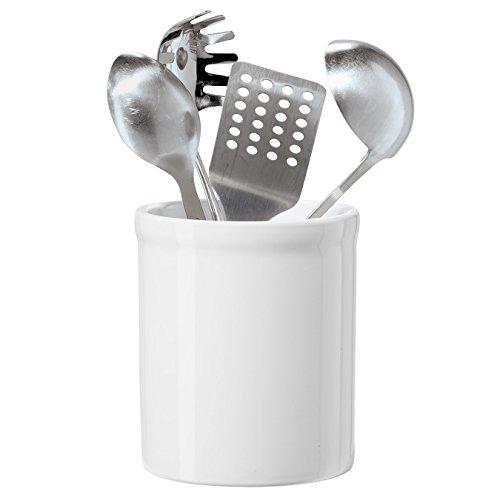 (OGGI White Ceramic Utensil Holder)