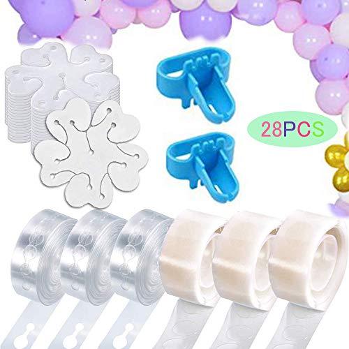 Balloon Arch Garland Decorating Strip Kit,2pcs Tying Tool,Reusable Tape...