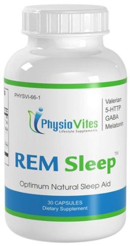 REM sommeil sommeil naturel aide mélatonine GABA 5-HTP L-théanine PhysioVites sommeil paradoxal 30 Capsules 1 Bouteille