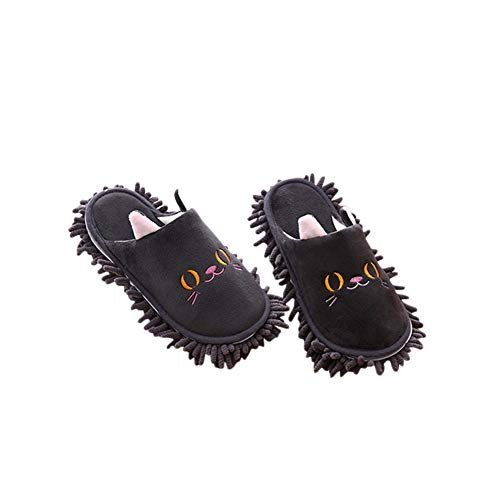 - Frjjthchy Warm Microfiber Slippers Floor Dust Dirt Hair Mop Slippers Shoes Anti-slip Moccasin Bedroom Home