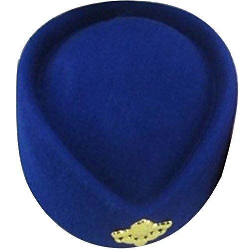 EYourlife2012 Wool Felt Pillbox Stewardess Air Hostesses Beret Bowler Base Hat