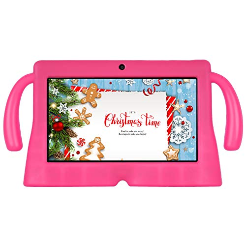 Xgody 7 inch Kids Tablet PC Quad Core Android 8.1 1GB RAM 16GB ROM Touch Screen with WiFi Pre-Loaded 3D Game Dual Camera Pink