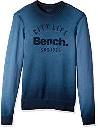 Bench mens Burnout Crew Neck Sweatshirt