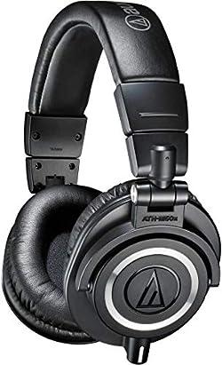 Audio-Technica ATH-M50x Professional Studio Monitor Headphones, Black