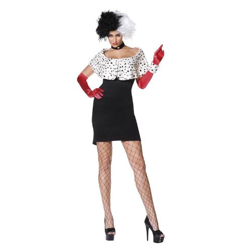 Evil Madame Costume - Medium - Dress Size 10-12 (Adult Cruella De Vil Costume)