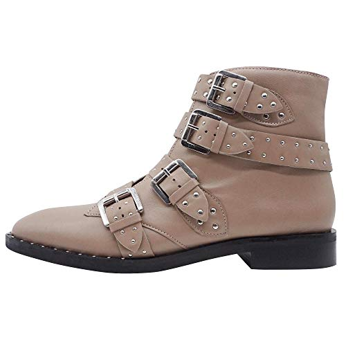 Topshop Beige Women's Boots Ank Bootees Boot Amy Stud 0Ucwx0qr1R
