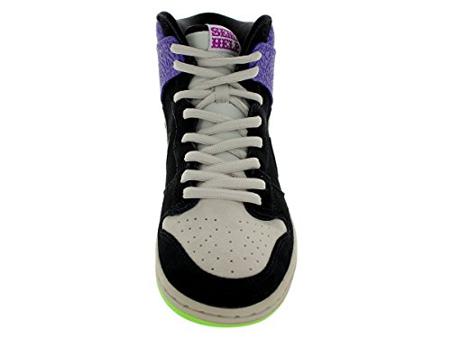 Dunk Alto Premium Sb blanco / negro del patín del zapato 6 con nosotros black, mortar-dark raspberry