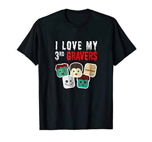 I Love My 3rd Gravers 3rd Graders Funny Halloween Shirt -