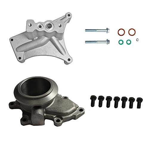 yjracing Turbo Pedestal Exhaust Housing Up Pipes & Gaskets Fit For 99.5-03 Ford 7.3L Powerstroke Diesel