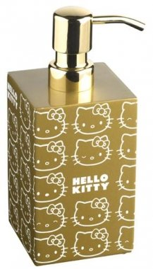 poignee-porte Dispensador de jabón Hello Kitty Gold