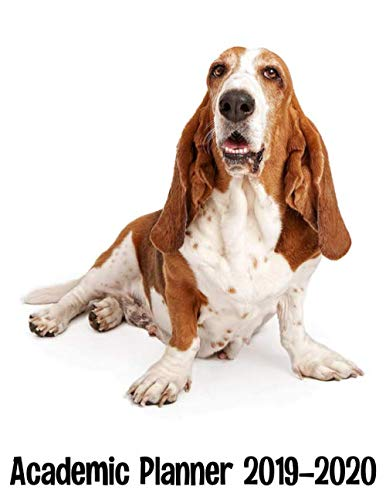 Academic Planner 2019 - 2020: Basset Hound Dog Planner - Cute Weekly And Monthly Agenda