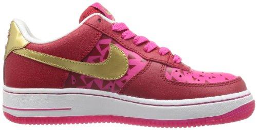 Nike Barn Air Force 1 Gs, Gym Rött / Mtllc Guld-levande Rosa-vitt, Ungdom Storlek 6