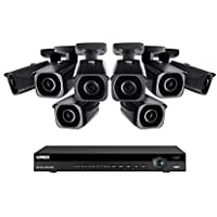 Lorex 8 channel NR9082 4K home security system with 8 8MP 4K LNB8921B Bullet Cameras - 4KHDIP88NB