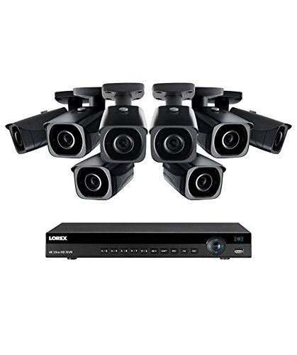 (Lorex 8 channel NR9082 4K home security system with 8 8MP 4K LNB8921B Bullet Cameras - 4KHDIP88NB)