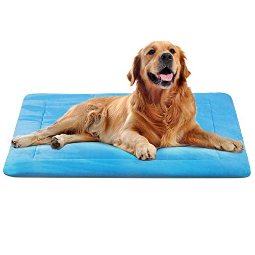 JoicyCo Dog Bed Crate Pad Mat 35″/42″/47″ Washable Pet Bed Cat Beds Soft Dog Mattress- Anti-Slip Kennel Pad Luxury Color