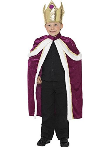 Smiffy's Kiddy King Costume (King Of The Kingdom Boys Costume)