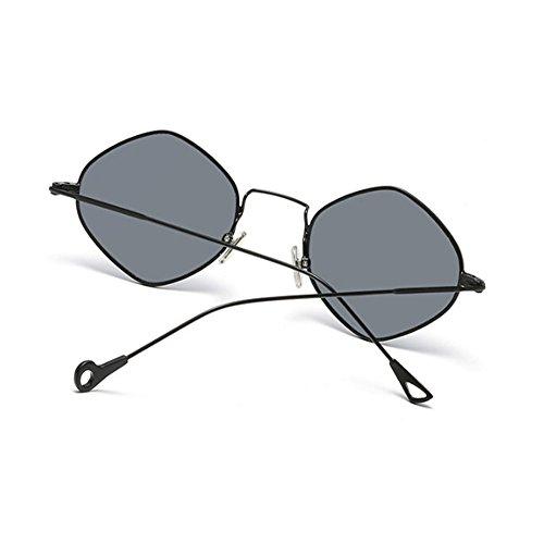 Súper Vintage de Metal Negro ligero Marco Espejo Gris Gafas Xinvision Retro Mujer Señoras Clásico Moda Gafas sol 4qw07aXt