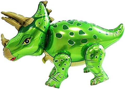 風船 バルーン 恐竜 ホイル パーティ誕生日 子供 玩具 結婚式 デコレーション 記念日 トリケラトプス - 青