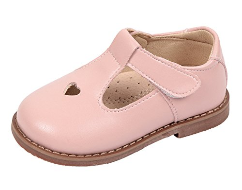 Image of WUIWUIYU Girls' Oxfords Shoes T-Strap Casual Walking School Uniform Dress Princess Mary Jane Flats